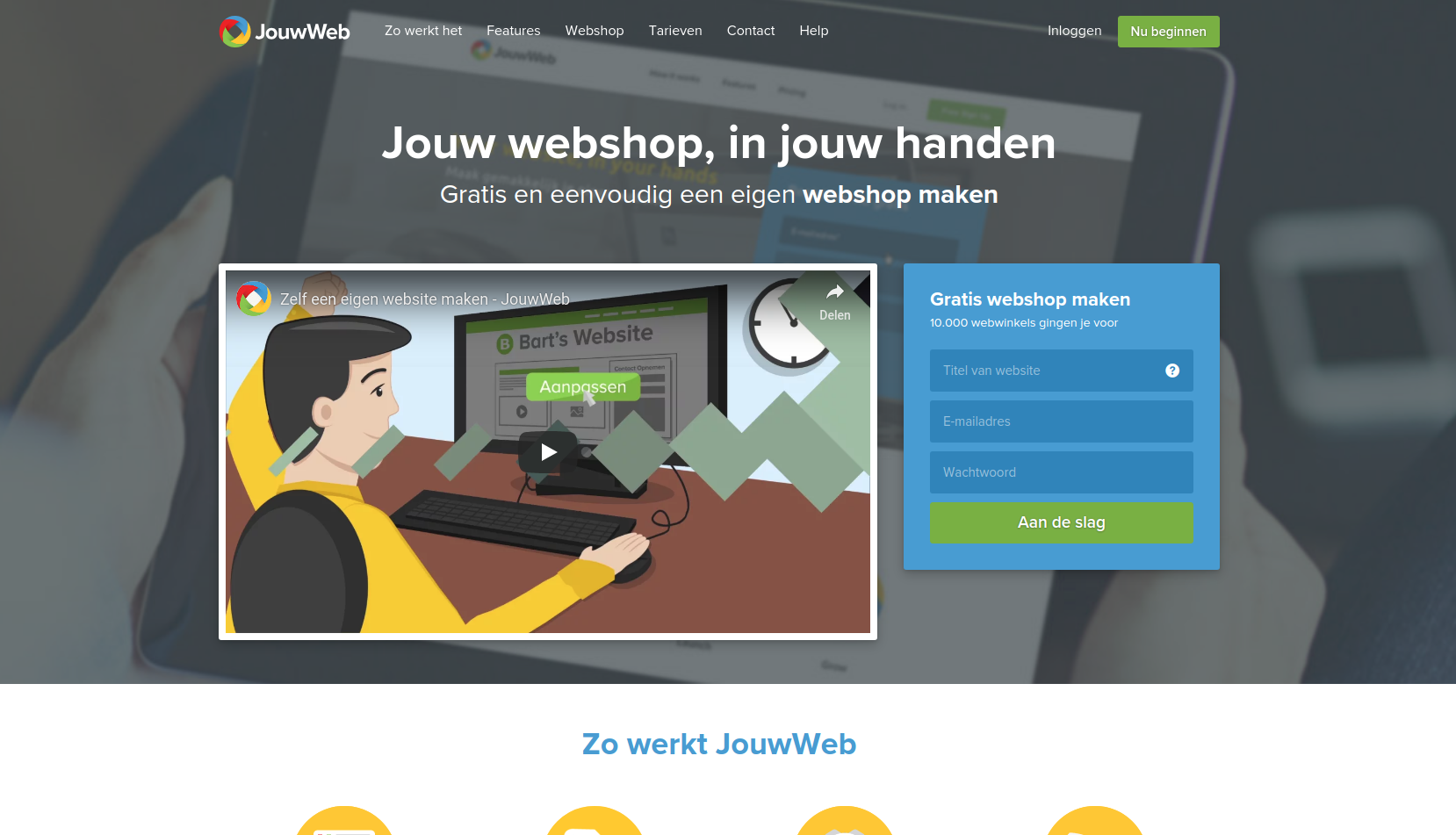 screenshot JouwWeb