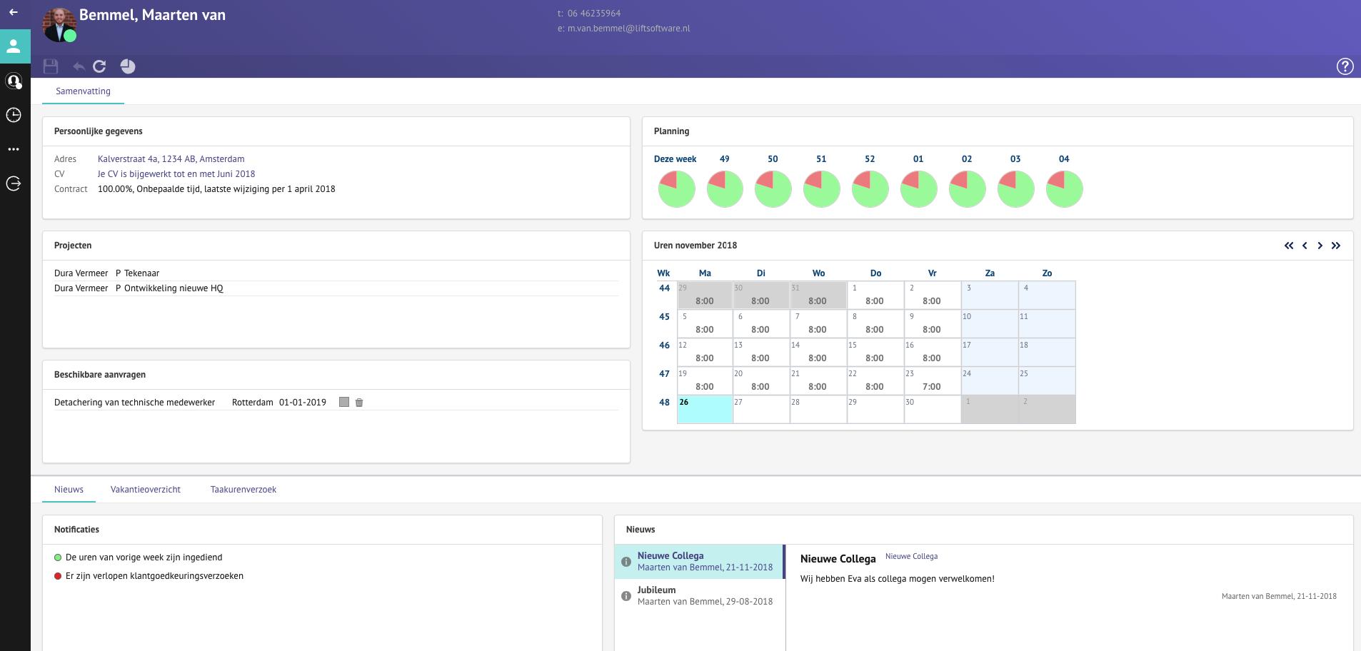 screenshot LIFT Software
