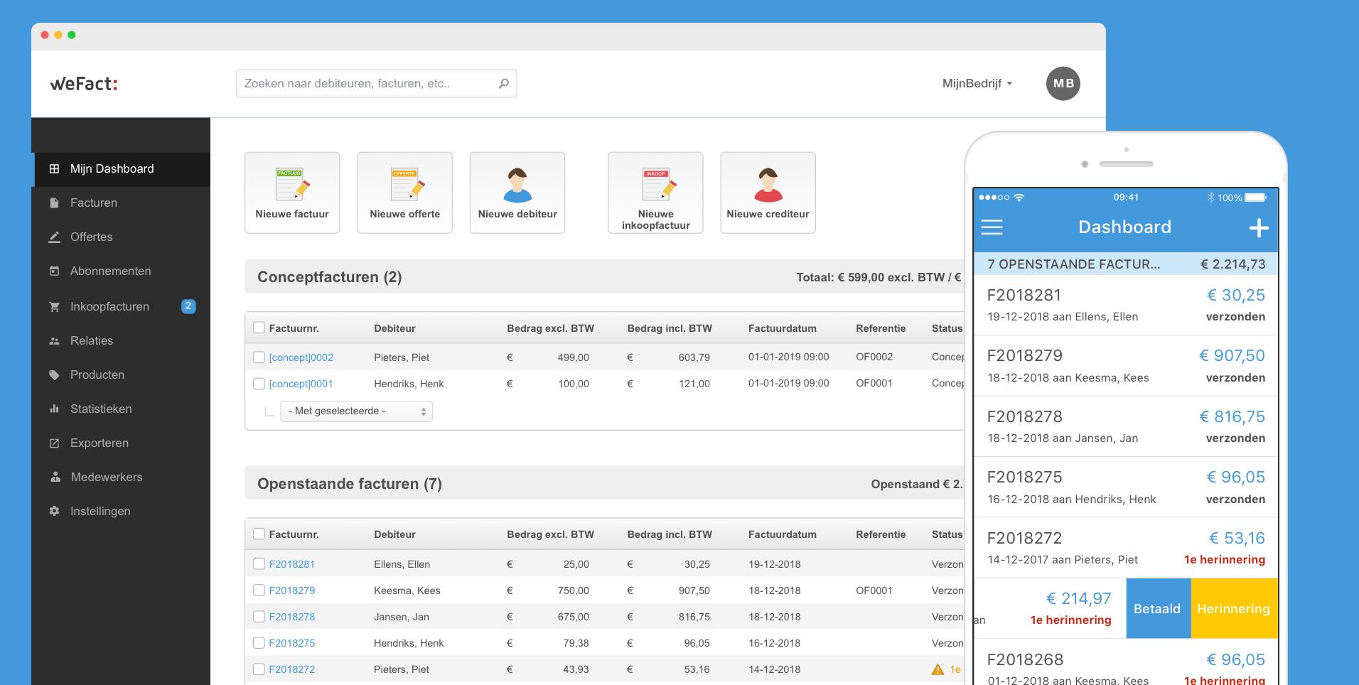 screenshot WeFact