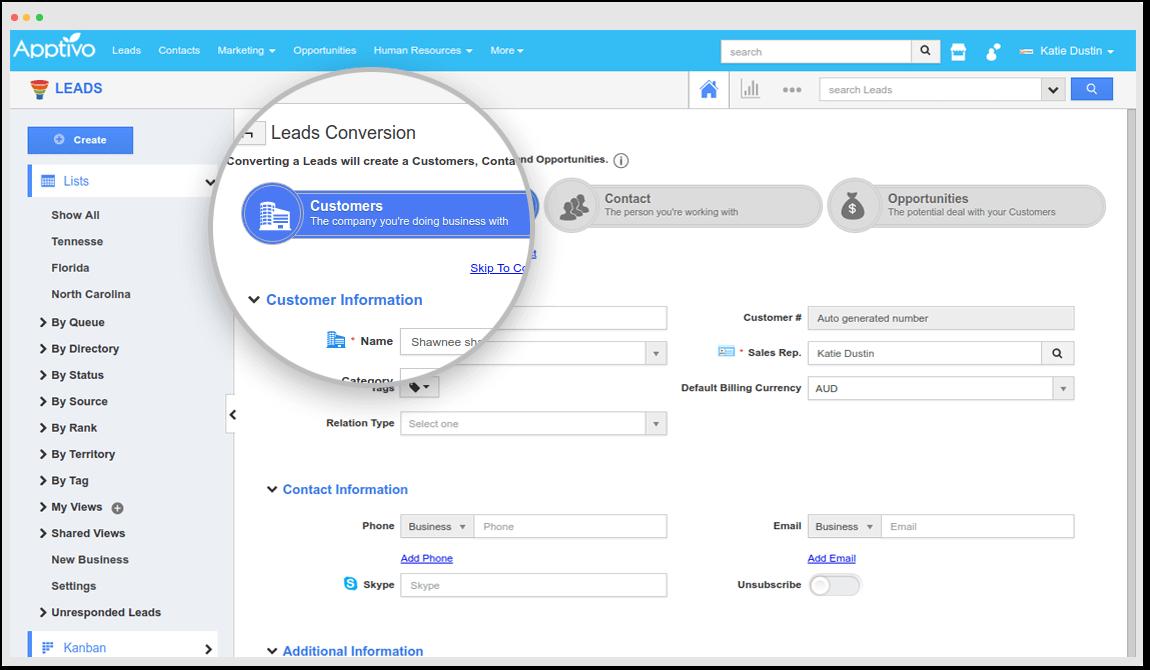 screenshot Apptivo